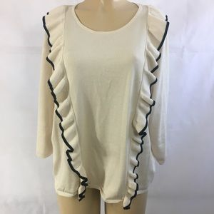 Carmen Marc Valvo Ruffle Sweater NWT 1X